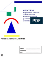Concurso Fondo Nacional Artes 2015