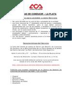 Requisitos Licencias La Plata