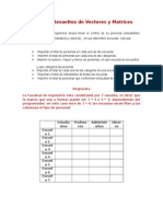 Ejercicios Resueltos de Vectores y Matrices