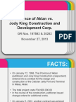 Aklan vs Jody King REPORT