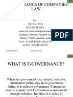 E-governance of Companies Law