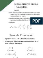 Errores calculo numerico