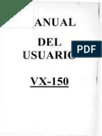 Manual Del Usuario VX-150