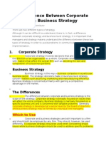 Buisnees Stratgey vs Coorporate Strategy