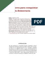 Una Guerra Para Conquistar La Democracia
