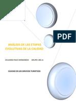 Análisis de Las Etapas Evolutivas de La Calidad