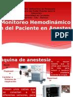 Monitoreo Hemodinamico Del Paciente en Anestesia