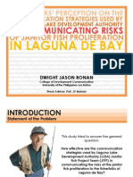 """Second Presentation on """"Fisherfolks' Perception on the Communication Strategy Used by the Laguna Lake Development Authority - Janitor Fish Project Team in Communicating the Risks of Janitor Fish Proliferation in Laguna de Bay""""."""