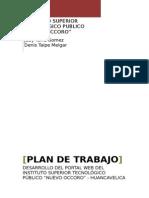 Plan de Trabajo Pagina Wb