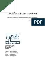 Optek Manual 1004 5003 02 Calibration Handbook VIS NIR US 2012-06-28