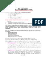 MBA 820 Evolution of HRM
