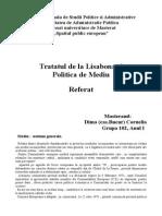 Tratatul de La Lisabona Si Politica de Mediu