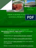 1.- Procedimientos en Asfixia Perinatal
