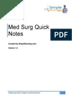 Quicknotes Medsurg