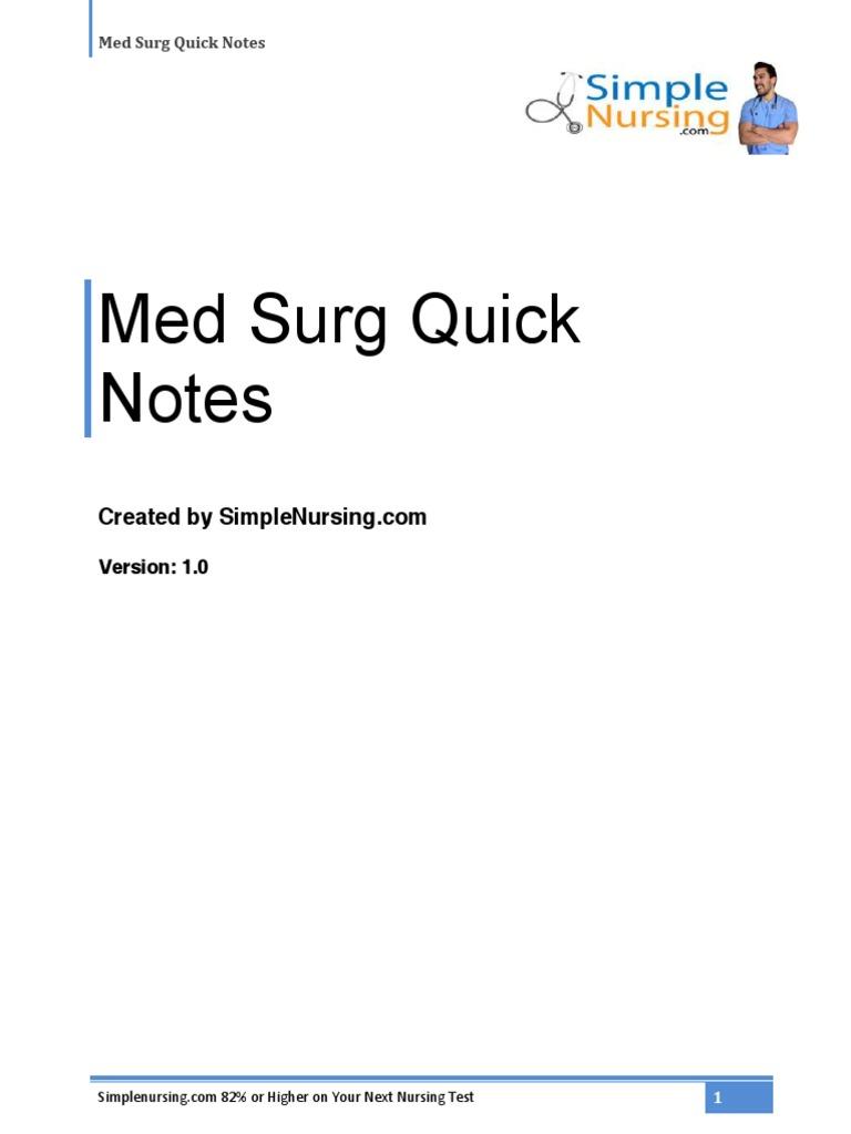 Quicknotes Medsurg   High Density Lipoprotein   Low Density