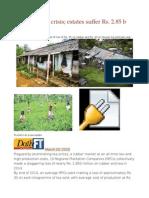 Plantations in Crisis Estates Suffer Rs. 2.85 b Losses in 2014