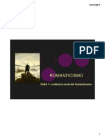 TEMA 7 La Música Vocal en Romanticismo