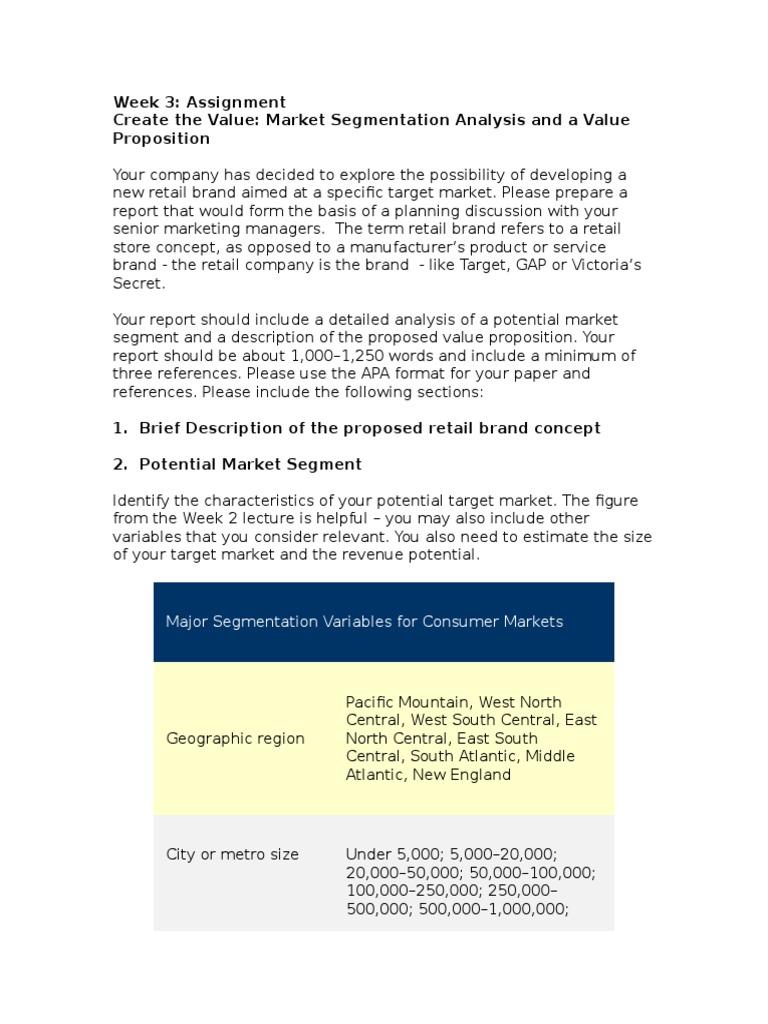 Assignment on market segmentation pdf