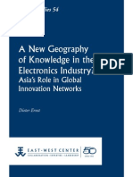 A New Geography of Knowledge in the Electronic Industry