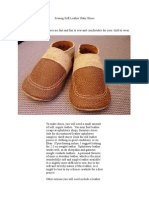 Sewing Soft Leather Baby Shoes