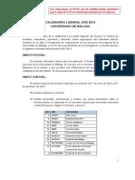 PropuestaCalendarioLaboral2014JuntaDePAS