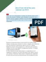 Crear en Windows 8 Una Red Ad Hoc Para Conectarse a Internet Con Wi