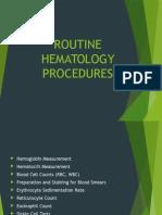 Routine Hematology