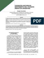Antecedentes Historicos Del CI en Argentina