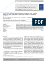 Synthesis of Castor Oil Based Plasticizers Containing Flame Retarded Group and Their Application in PVC as Secondary Plasticizer