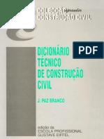 Dicionário Técnico de Construção Civil