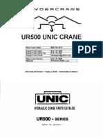 Furukawa UNIC UR500 Parts Catalog