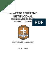Formato de Proyecto Educativo - Maximiliano Escobar Echeverria