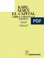 Karl Marx El Capital Libro1 Capitulovi Inedito