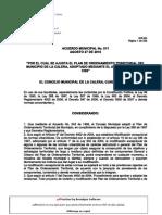 Acuerdo N_011 Del 27 de Agosto de 2010-Me_La Calera Cundinamarca