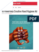Powerfully Creative Hand Hygiene Ads