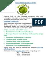 7 Prinsip Dan Kriteria ISPO I telp 081380163185