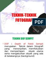 Teknik Teknik Fotografi