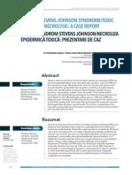 Overlap Stevens Johnson Syndrome Toxic Epidermal Necrolysis a Case Report-libre