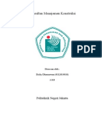 Konsultan Manajemen Konstruksi