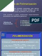 Tecnología de plásticos. Métodos de polimerización