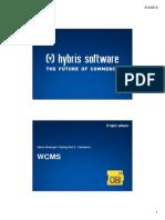 Hybris Developer Training Part II - Commerce - Module 09 - WCMS