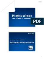 Hybris Developer Training Part II - Commerce - Module 10 - Advanced Personalization