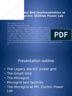 Microgrid Test Bed Implementation at the PPL Electric Utilities Power Lab