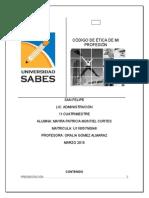 Código ético de Licenciados en Administración de la Universidad del SABES