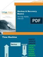 Backup and Recovery Basics Presentation