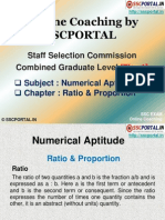 Ssc Online Coaching Cgl Tier 1 Numercial Aptitude Ratio Proportion 140206063323 Phpapp01