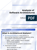 Analysis of Software Architectures