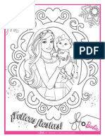 Barbie Holiday Coloring