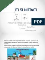 Nitrati Si Nitriti Barta Maria Cristina Scrobota Alina