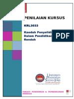 Penilaian Kursus KRL3033